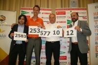 De izda. a dcha., Rifaat Chabouk, Jarijn Nijkamp, Adam Roczek y Manuel Torres presentan de manera gráfica las cifras clave de Eusgames 2012