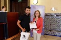 Rosario Mérida y Jorge Villalobos en la entrega de premios UCO-poética 2017
