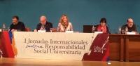 La presidenta del Consejo Social de la UCO, Anabel Carrillo durante un momento de su intervención en las Jornadas