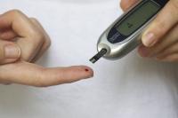 Imagen de una prueba de glucosa en sangre