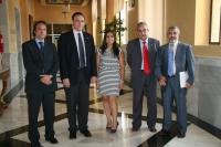 De izquierda a derecha, Daniel García, José Carlos Gómez Villamandos, Beatriz Jurado, Arturo González y Miguel Moreno