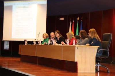 Intervención de la gerente de la Universidad de Córdoba, Luisa M. Rancaño, en la jornada informativa a proveedores