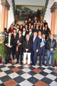 Participantes y jurado en el Palacio de la Merced