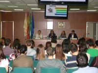 Agustina Gómez, Julieta Mérida, Enriqueta Moyano y Antonio Sarsa durante la presentación