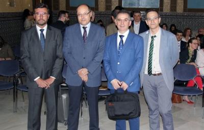 De izquierda a derecha, José Luis Vega-Leal, Luis Miranda, Antonio Cubero y Julio Costas