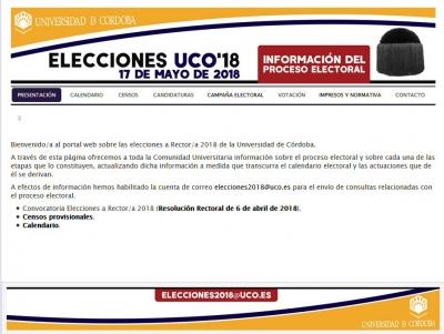 Página web de las Elecciones