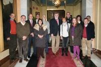 El rector con los firmantes del acuerdo de jubilación parcial
