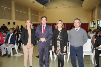 De izquierda a derecha, Rosa Gallardo, Ricardo Domínguez, Julieta Mérida y Alfonso García-Ferrer, en la inauguración del Máster.