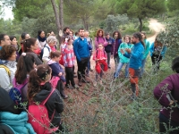 Un momento de la visita a la Parque Periurbano de la Sierrezuela de Posadas