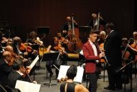 E clarinetista Claudio Colume en un momento de su interpretación con la Orquesta de Córdoba