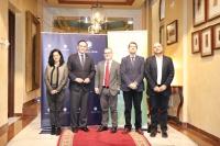 De izquierda a derecha, Isabel Sánchez Rodríguez, José Carlos Gómez, Rafael Serrano del Rosal, Manuel Fernández Esquinas y Enrique Quesada