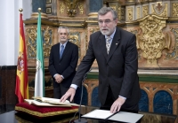 José Manuel Roldán Nogueras, durante su toma de posesión