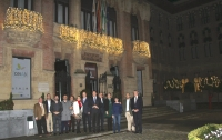 El rector y su equipo de gobierno inauguran el alumbrado navideño en el Rectorado