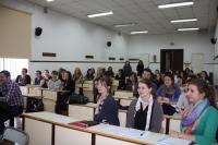 Alumnos extranjeros durante la recepción
