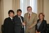 Harunobu Onagi y Jose Manuel Roldán cierran el convenio entre sus instituciones
