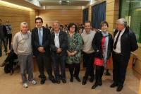 Organizadores del ciclo de conferencias con motivo del Año Internacional de los Suelos, junto al conferenciante Juan Gil Torres (tercero por la izquierda).