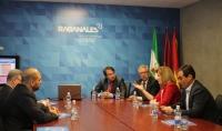 Un momento de la ministra en funciones, Fátima Báñez, a Rabanales 21