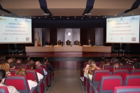 Un momento de la clausura celebrada en el Salón de Actos del Rectorado de la Universidad de Córdoba.