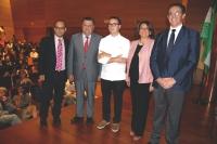 De izquierda a derecha, Antonio Ruiz, Francisco Zurera, Paco Morales, Carmen Balbuena y Eulalio Fernández