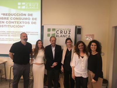 Javier Morillo, Irene Pascual, Ricardo Chacón, Mamen Niño, Teresa Ríos, y Pilar Alba.