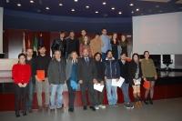 Autoridades con los premiados de la  segunda edición de Suroscopia