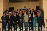 Los rectores y coordinadores del ceiA3 junto a los directores de los programas de Doctorado del ceiA3