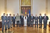 Los rectores andaluces con la presidenta Susana Díaz