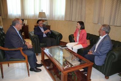 De izquierda a derecha, Juan Antonio Caballero, José Carlos Gómez Villamandos, Eva Pozo y Manuel Pineda.