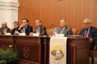 Mesa presidencial del acto de presentación del libro-homenaje al profesor Miguel Rodríguez-Pantoja