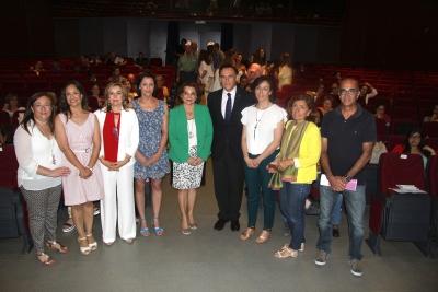 Autoridades asistentes a la inauguración de las jornadas celebradas en el Rectorado