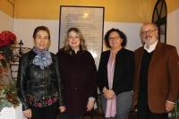 De izquierda a derecha, Milagros Fernández, Mercedes Monmany, María Teresa Roldán y Ángel Pérez