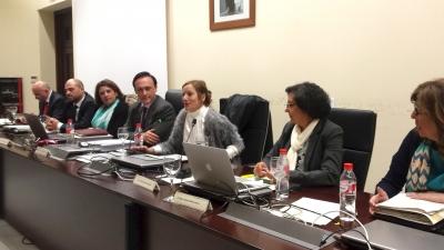 Intervención de Anabel Carrillo ante los integrantes del Consejo de Gobierno.