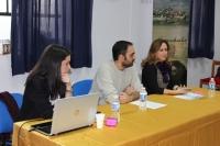 De izquierda a derecha, Fátima Cuadrado, Juan Miguel Rojano y María Rosal.