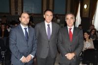 De izquierda a derecha, Enrique Quesada, José Carlos Gómez Villamandos y José Antonio Cristóbal Álvaro.