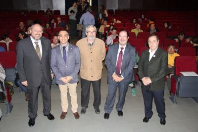 De izquierda a derecha, Manuel Torralbo, Alfonso Zamorano, Sixto Romero, Pedro Benzal y Agustín Carrillo.