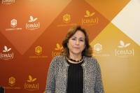La nueva directora de la Unidad de Igualdad de la Universidad de Córdoba, antes de la presentación del programa de activiadades