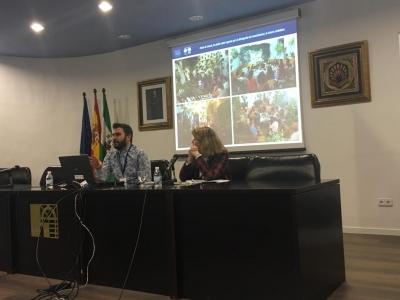 El técnico de la UCCi  David Sánchez durante su intervención en el Congreso