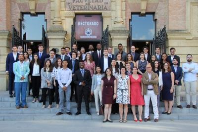 Foto de familia de los participantes en el  International Consulting Program VCU-UCO 2018