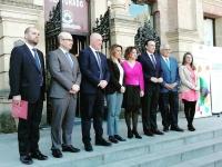 Foto de familia de las autoridades asistentes a la inauguración del II Congreso de Emprendimiento Universitario