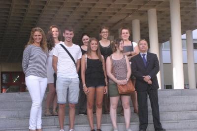 Alumnos y profesores del curso sobre ciudadanía europea