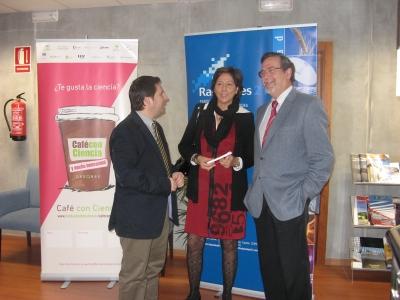 De izq. a Dcha. Jose Ignacio Expósito, Carmen Tarradas y Francisco Gracia