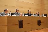 De izquierda a derecha, Rafael Cejudo, Eulalio Fernández, Alfonso Zamorano y Concha Roldán.