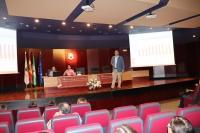 Alberto Marinas durante su intervención en las jornadas