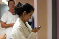 Enfermera en su lugar de trabajo