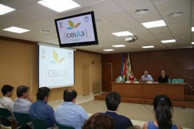 El ceiA3 expone su actividad y proyectos a decanos, directores y grupos de investigación de la Universidad de Córdoba··