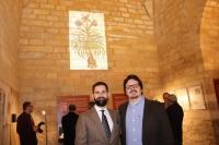 Los comisarios de la exposición en la inauguración ubicada en el Archivo Histórico Provincial