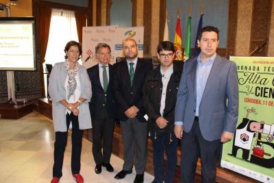 De izquierda a derecha, Carmen Tarradas, Rafael Jordano, Enrique Quesada, Pedro García y Francisco de la Torre