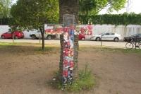 Cruz de mayo de residuos