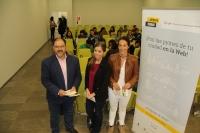 Librado Carrasco, Isabel Gracia y Maribel Rodríguez Zapatero en la presentación de 'Activa tu Ciudad'