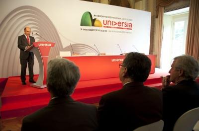 Un momento de la presentación de Emilio Botín